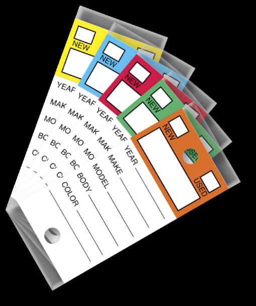Genuine Versa-Tags Color Top Key Tags