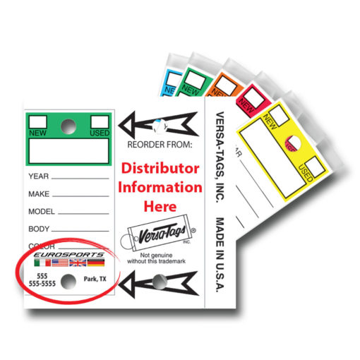 Custom Dealer Color-Top Key Tags