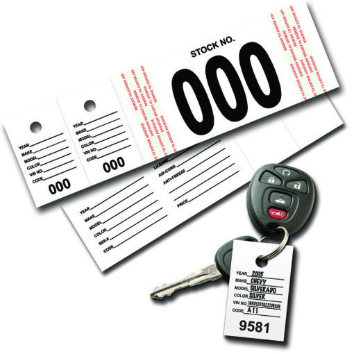 VT Vehicle Stock Number Tags